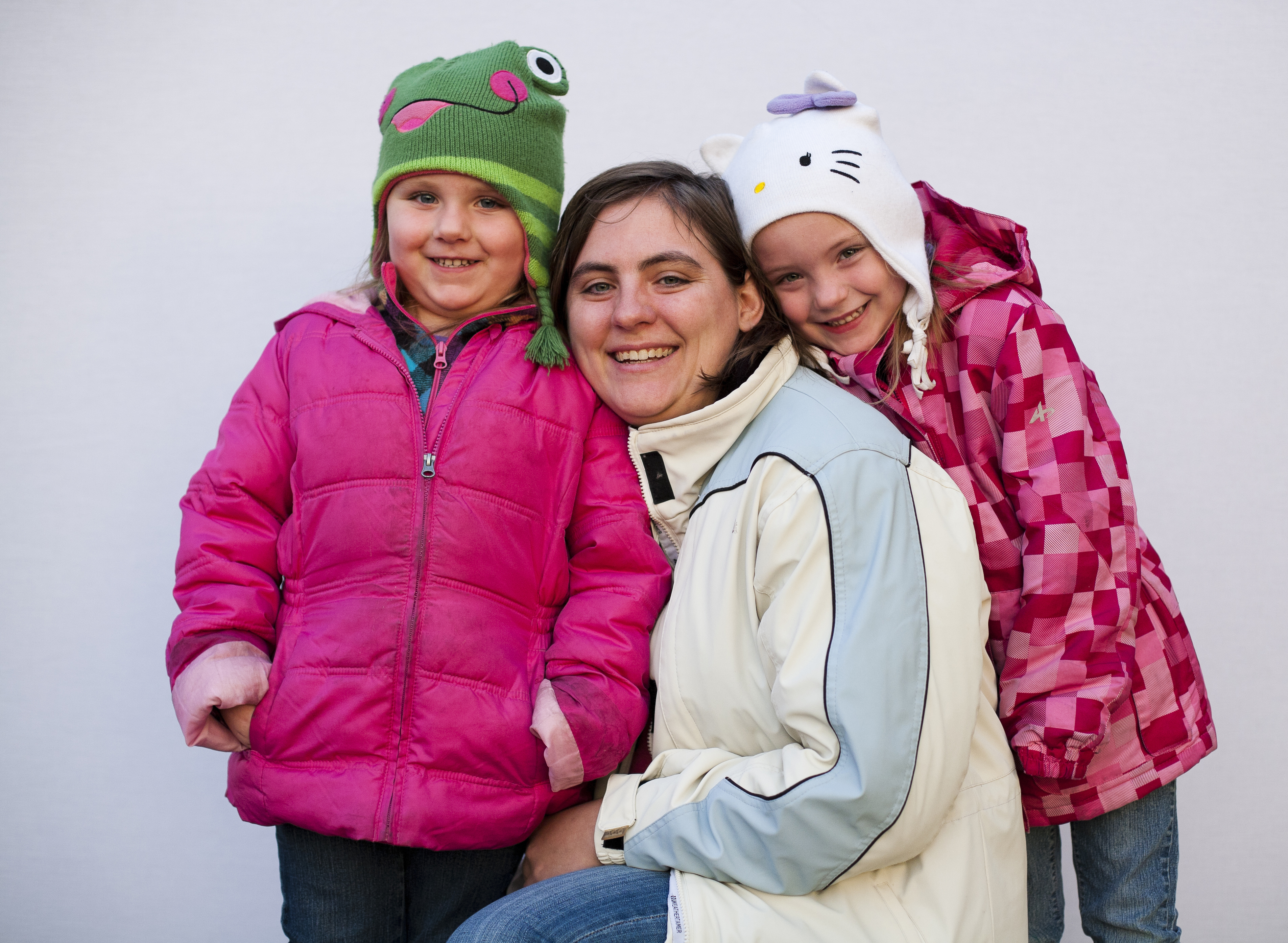 Mom and two daughters photo