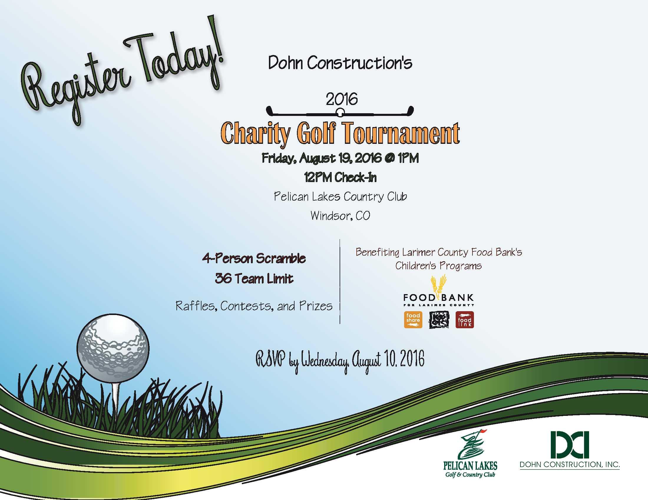 dohn construction s charity golf tournament food bank