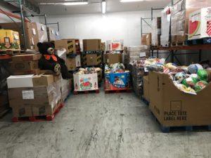 Full freezer following Turkey Drive for Larimer county Food Bank