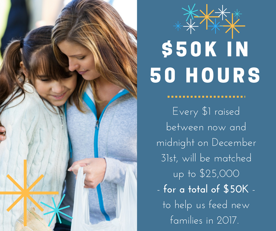 50K in 50 Hours Match Campaign Donation for the Food Bank for Larimer county
